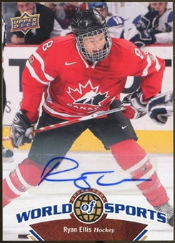 2010 Upper Deck World of Sports Autographs #195 Ryan Ellis
