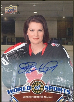 2010 Upper Deck World of Sports Autographs #236 Jennifer Botterill Autograph