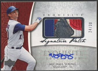 2006 Exquisite Collection #MY Michael Young Signature Patch Auto #24/30