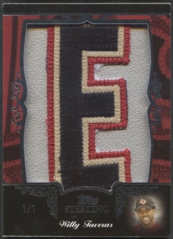 "2007 Topps Sterling Willy Taveras Letter ""E"" Patch #1/1"