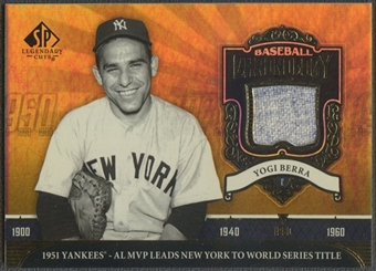 2006 SP Legendary Cuts #YB Yogi Berra Baseball Chronology Materials Jersey