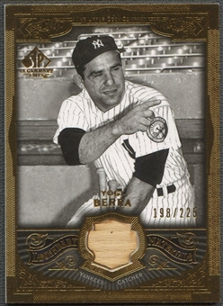 2006 SP Legendary Cuts #YB Yogi Berra Legendary Materials Gold Bat #198/225