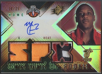 2008/09 SPx #149 Mario Chalmers Radiance Rookie Patch Auto #16/25