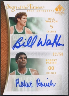 2007/08 SP Authentic #STWP Bill Walton & Robert Parish Sign of the Times Dual Auto #02/50