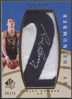 "2007/08 SP Authentic #BNRB Rick Barry By The Number Jersey Number ""2"" Patch Auto #06/25"