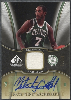 2006/07 SP Game Used #NA Nate Archibald Legendary Fabrics Jersey Auto #23/50