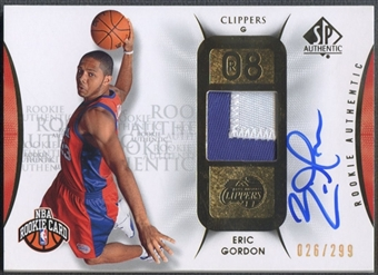 2008/09 SP Authentic #115 Eric Gordon Rookie Patch Auto #026/299