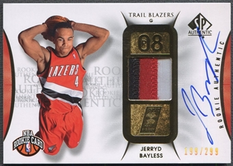 2008/09 SP Authentic #106 Jerryd Bayless Rookie Patch Auto #199/299