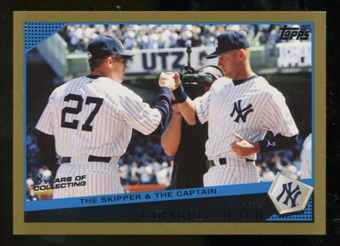 2009 Topps Update Gold Border #UH69 Joe Girardi Derek Jeter /2009