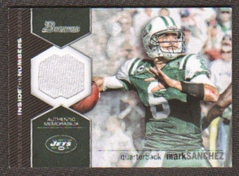 2012 Topps Bowman Inside the Numbers Relics #ITNRMS Mark Sanchez