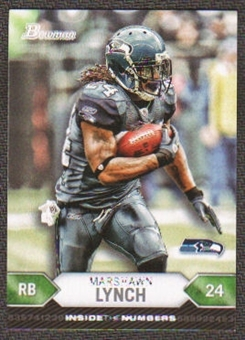 2012 Topps Bowman Inside the Numbers #ITNML Marshawn Lynch