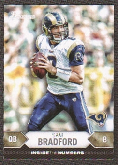 2012 Topps Bowman Inside the Numbers #ITNSB Sam Bradford