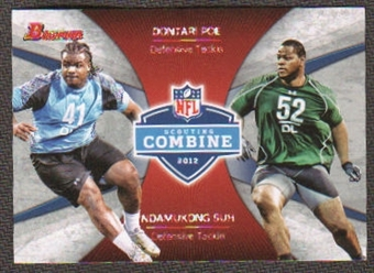 2012 Topps Bowman Combine Competition #CCPS Dontari Poe/Ndamukong Suh