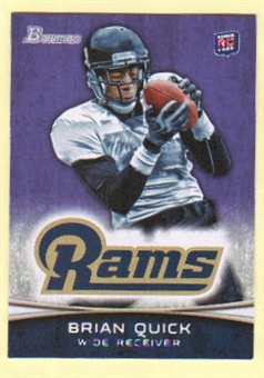 2012 Topps Bowman Purple #168 Brian Quick