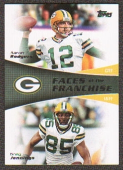 2011 Topps Faces of the Franchise #RJ Aaron Rodgers/Greg Jennings
