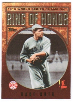 2009 Topps Ring Of Honor #RH76 Babe Ruth