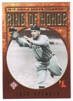 2009 Topps Ring Of Honor #RH94 Tris Speaker