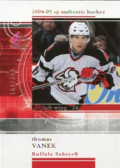 2004/05 Upper Deck SP Authentic Rookie Redemptions #RR4 Thomas Vanek /399
