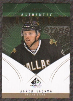 2009/10 Upper Deck SP Game Used Gold #190 Aaron Gagnon /50