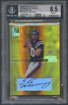 2004 Donruss Elite #PT20 Eli Manning Passing the Torch Rookie Auto #016/100 BGS 8.5