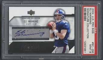 2004 UD Diamond Pro Sigs #SCEM Eli Manning Signature Collection Rookie Auto PSA 9