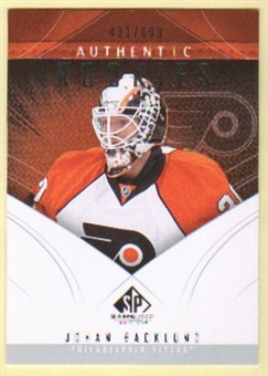 2009/10 Upper Deck SP Game Used #148 Johan Backlund /699