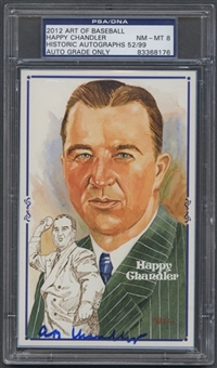 2012 Historic Autograph Art of Baseball Happy Chandler Auto #52/99