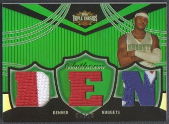 2006/07 Topps Triple Threads #23 Carmelo Anthony Relics Emerald Jersey #05/18