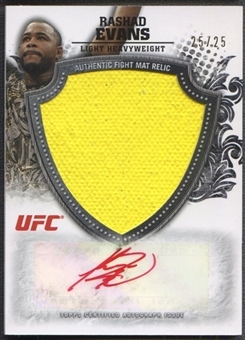 2012 Topps UFC Bloodlines #AFMRE Rashad Evans Jumbo Fight Mat Relics Auto #25/25