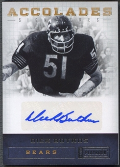 2011 Panini Playbook #48 Dick Butkus Accolades Signatures Auto #22/49