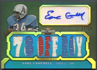 2011 Topps Triple Threads #TTAR30 Earl Campbell Relics Jersey Auto #17/18