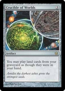 Magic the Gathering Fifth Dawn Single Crucible of Worlds UNPLAYED (NM/MT)