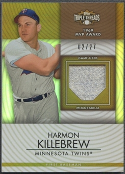 2012 Topps Triple Threads #UR266 Harmon Killebrew Unity Relics Sepia Jersey #02/27