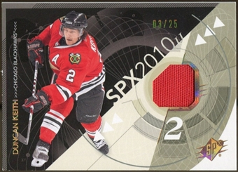 2010/11 Upper Deck SPx Spectrum #20 Duncan Keith Jersey 3/25