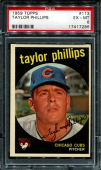1959 Topps Baseball #113 Taylor Phillips PSA 6 (EX-MT) *7286