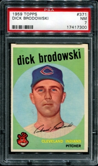 1959 Topps Baseball #371 Dick Brodowski PSA 7 (NM) *7300