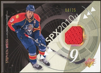 2010/11 Upper Deck SPx Spectrum #43 Stephen Weiss Jersey 4/25