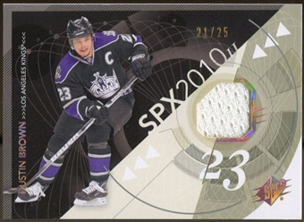 2010/11 Upper Deck SPx Spectrum #47 Dustin Brown Jersey 21/25