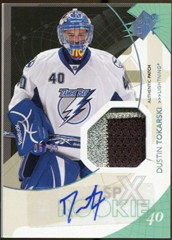 2010/11 Upper Deck SPx Spectrum #167 Dustin Tokarski PATCH Autograph 5/25
