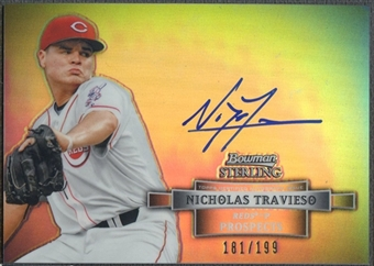 2012 Bowman Sterling Prospect #NT Nicholas Travieso Refractor Auto #181/199