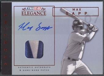 2007 TRISTAR Elegance #MS Max Sapp Showtime Game Used Patch Auto #08/25