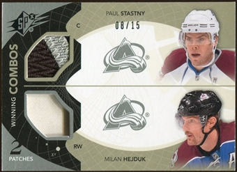2010/11 Upper Deck SPx Winning Combos Patches #WCHS Milan Hejduk Paul Stastny 8/15