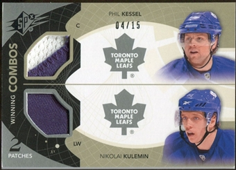 2010/11 Upper Deck SPx Winning Combos Patches #WCKK Phil Kessel/Nikolai Kulemin 4/15