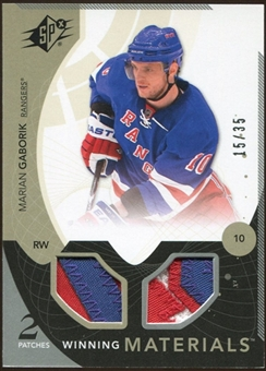 2010/11 Upper Deck SPx Winning Materials Patches #WMMG Marian Gaborik 15/35