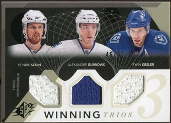 2010/11 Upper Deck SPx Winning Trios #WM3VAN Alexandre Burrows/Henrik Sedin/Ryan Kesler 46/50