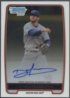 2012 Bowman Chrome Draft #DM Deven Marrero Draft Pick Rookie Auto