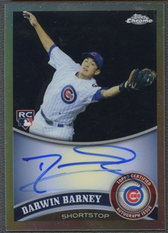 2011 Topps Chrome #193 Darwin Barney Rookie Refractor Auto #492/499