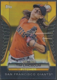 2012 Topps #GMDC82 Tim Lincecum Golden Moments Die Cuts Gold #50/99