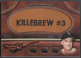 2011 Topps #HK Harmon Killebrew Glove Manufactured Leather Nameplates
