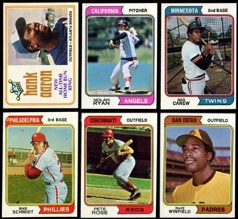 1974 Topps Baseball Complete Base & Traded Set (EX-MT)